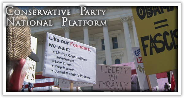 Conservative Party National Platform.